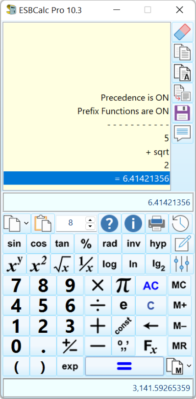 ESBCalc Pro Screen shot